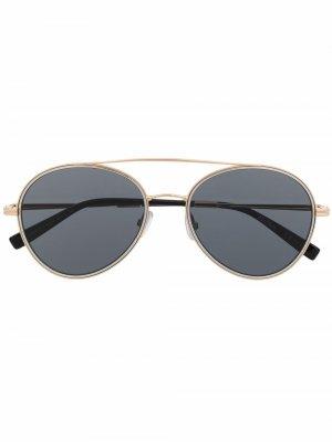Солнцезащитные очки-авиаторы Max Mara. Цвет: золотистый