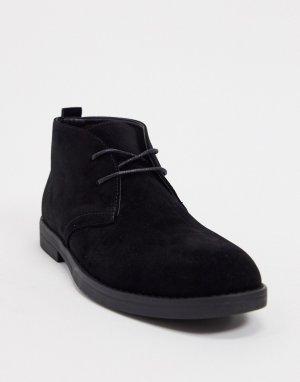 Черные ботинки-дезерты -Черный New Look
