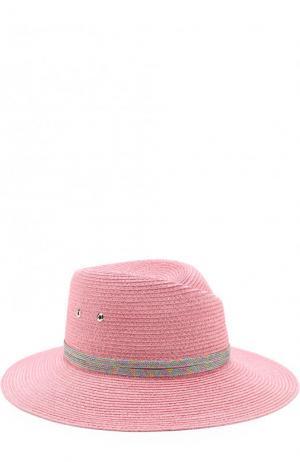 Шляпа Virginie с декоративной лентой Maison Michel. Цвет: розовый