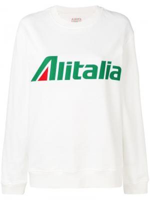 Толстовка Alitalia Alberta Ferretti. Цвет: белый
