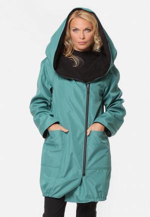 Куртка утепленная Kata Binska VASSA. Цвет: бирюзовый