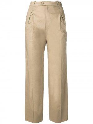Укороченные брюки прямого кроя 1970-х годов Jean Louis Scherrer Pre-Owned. Цвет: нейтральные цвета