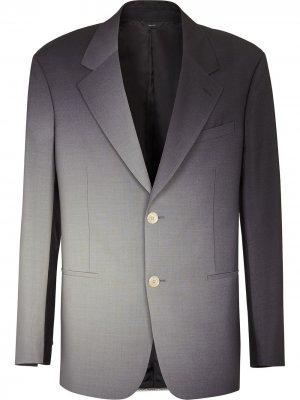 Пиджак с эффектом омбре Fendi. Цвет: черный
