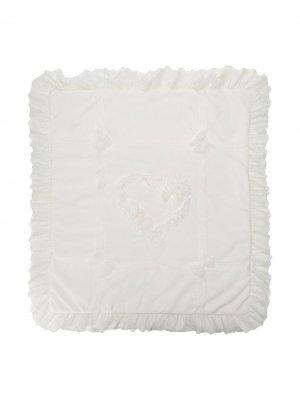 Одеяло с оборками Aletta. Цвет: белый