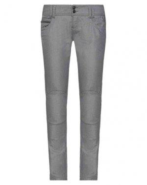 Джинсовые брюки G.SEL. Цвет: стальной серый