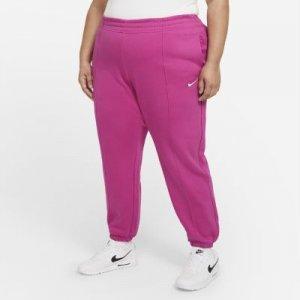 Женские флисовые брюки Nike Sportswear Trend (большие размеры) - Красный