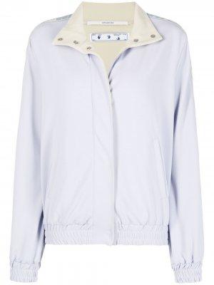 Спортивная куртка со вставками Off-White. Цвет: фиолетовый