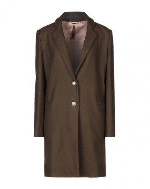 Пальто MANILA GRACE. Цвет: темно-зеленый