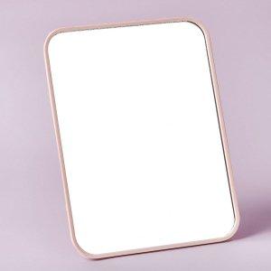 1шт Настольное зеркало для макияжа SHEIN. Цвет: розовые