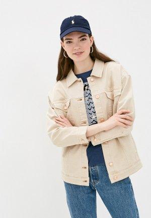 Куртка джинсовая s.Oliver. Цвет: бежевый