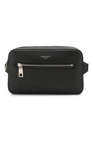 Кожаная поясная сумка Gotico Dolce & Gabbana. Цвет: чёрный