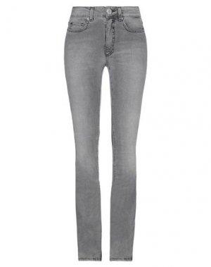 Джинсовые брюки SPACE SIMONA CORSELLINI. Цвет: серый