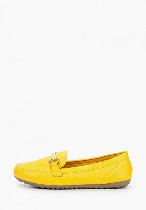 Мокасины Exquily. Цвет: желтый