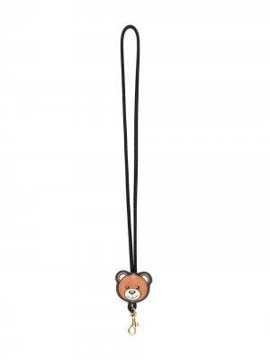 Брелок Teddy с ланъярдом Moschino. Цвет: черный
