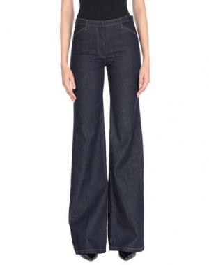 Джинсовые брюки THEORY. Цвет: синий