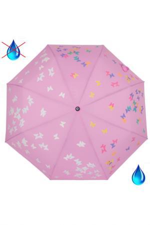 Зонт-полуавтомат Flioraj. Цвет: бордовый