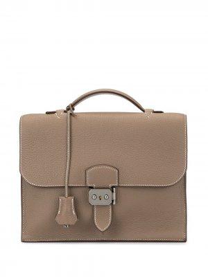 Портфель Sac A Depeche 25 Hermès. Цвет: коричневый