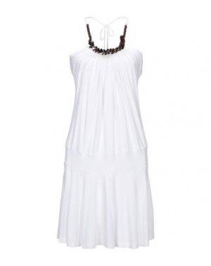 Короткое платье KILLAH. Цвет: белый