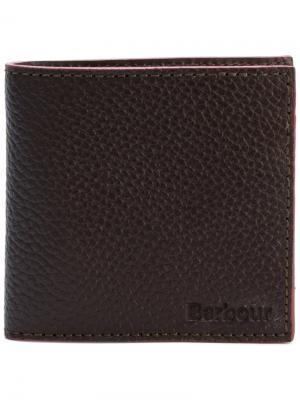 Классический бумажник с зернистой фактурой Barbour. Цвет: коричневый