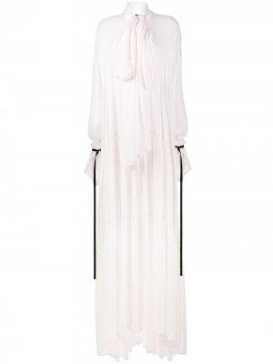 Платье макси Ewing Rosy Ann Demeulemeester. Цвет: розовый