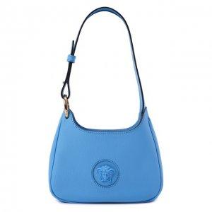 Сумка La Medusa small Versace. Цвет: голубой