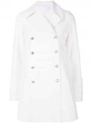 Двубортное пальто Calvin Klein 205W39nyc. Цвет: белый