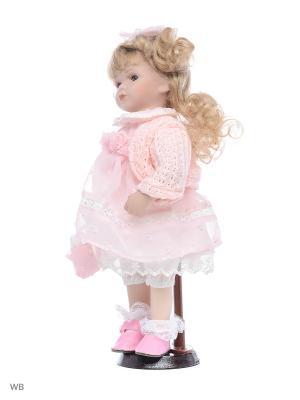 Кукла фарфор 12 Ханна Angel Collection. Цвет: розовый, белый