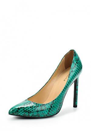 Туфли Elmonte. Цвет: зеленый