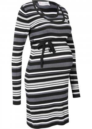 Платье для беременных и кормящих мам bonprix. Цвет: черный