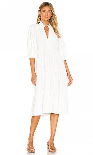 Платье миди saffron Amanda Uprichard. Цвет: белый