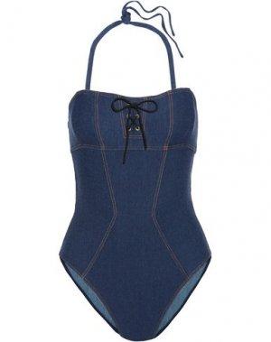 Слитный купальник L'AGENT by AGENT PROVOCATEUR. Цвет: синий