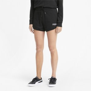 Шорты Modern Basics High Rise Womens Shorts PUMA. Цвет: черный