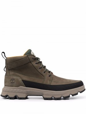 Массивные ботинки на шнуровке Timberland. Цвет: зеленый