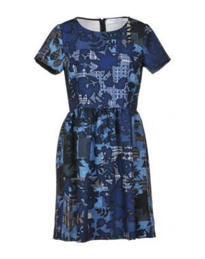 Короткое платье ANNA RACHELE JEANS COLLECTION. Цвет: темно-синий