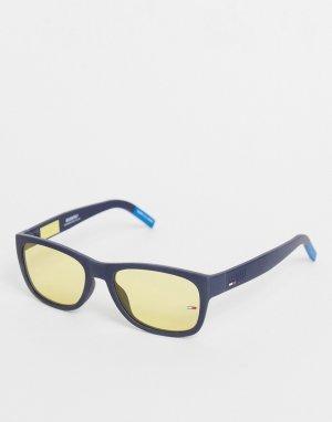 Солнцезащитные очки унисекс в синей оправе 0025/S-Голубой Tommy Jeans
