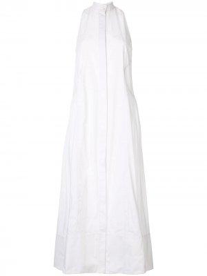 Платье-рубашка макси CAMILLA AND MARC. Цвет: белый