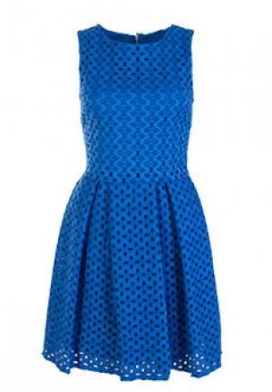 Платье FLAVIO CASTELLANI. Цвет: синий