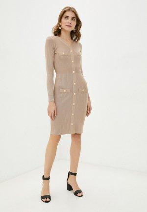 Платье Bigtora. Цвет: коричневый