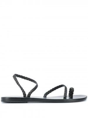 Плетеные сандалии Eleftheria Ancient Greek Sandals. Цвет: черный