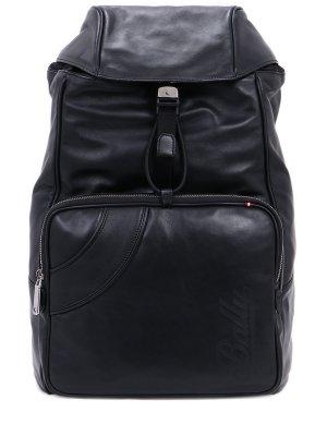 Рюкзак кожаный BALLY. Цвет: черный