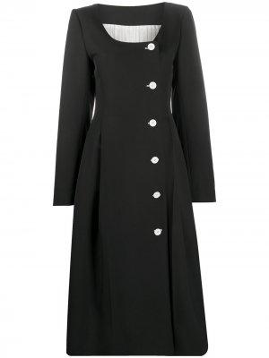 Платье миди на пуговицах Nina Ricci. Цвет: черный