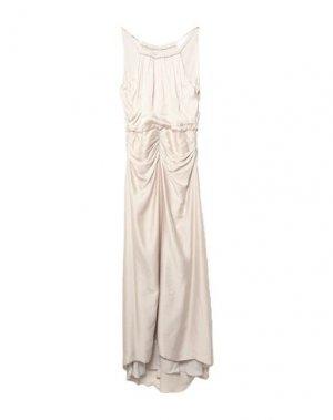 Длинное платье HALSTON. Цвет: бежевый