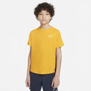 Теннисная футболка с коротким рукавом для мальчиков школьного возраста Court Dri-FIT Victory - Коричневый Nike