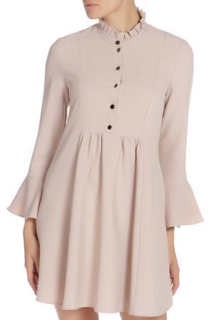Платье Libellulas. Цвет: бежевый
