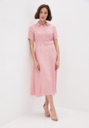 Платье Marks & Spencer. Цвет: розовый