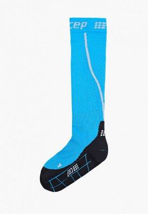 Компрессионные гольфы CEP Knee socks. Цвет: синий