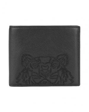 Бумажник KENZO. Цвет: черный