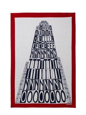 Пляжное полотенце с принтом Valentino Garavani. Цвет: красный