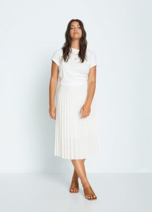 Плиссированная миди-юбка - Papel Mango. Цвет: белый