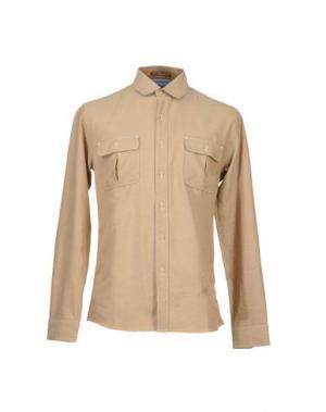 Рубашка с длинными рукавами FRESHJIVE. Цвет: песочный
